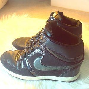 Nike Force Sky High Shoes Black 629746-001 W Sz9